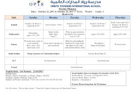 weekly plan week 6 album opis