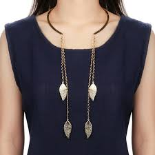 choker collar necklace vintage images Vintage retro punk rock leaves long tassel choker collar necklace jpg
