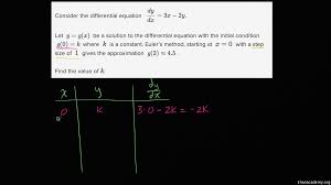 euler u0027s method differential equations video khan academy