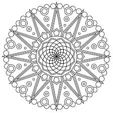sacred geometry mandala coloring coloring