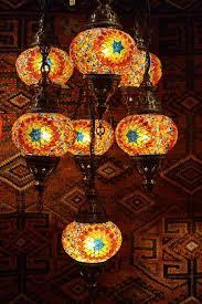 Turkish Chandelier Seven L Mosaic Chandelier