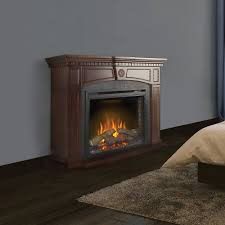 harlow electric fireplace mantel package in mahogany nefp33 0114m