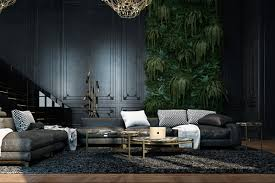 Lucky Home Design For 2016 3 Living Spaces With Dark And Decadent Black Interiors
