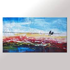 abstract art contemporary wall art modern art love birds