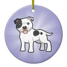 american staffordshire terrier ornaments keepsake ornaments zazzle