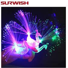 led light up rings surwish 40pcs peacock finger light colorful led light up rings