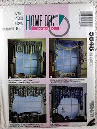 mccall u0027s 5848 window treatments pattern window valance sewing