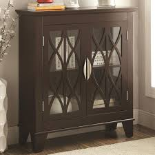 Coaster Curio Cabinet Coaster Accent Cabinets Accent Cabinet W Glass Doors Del Sol
