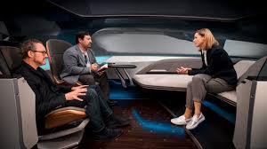 futuristic cars interior audi u0027s long distance lounge hypes a smarter autonomous future