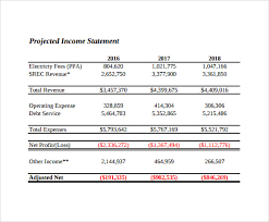 Template For Balance Sheet And Income Statement Sle Income Statements Sle Projected Income Statement