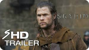 skyrim 2018 movie trailer 1 chris hemsworth sam worthington