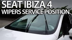 how to set wipers to service position seat ibiza mk4 replace