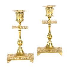 antique brass ls value antique brass candlesticks pair of antique brass candlesticks