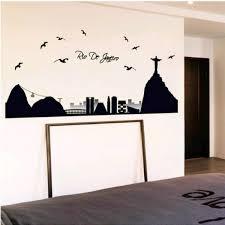 Skyline Wallpaper Bedroom Lot Rio De Janeiro Wall Sticker Vinyl Skyline Mural Bedroom Brazil