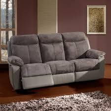 canap relaxation electrique canapé relax 3 places électrique bi matière lanta univers des