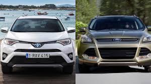 toyota jeep 2009 2016 toyota rav4 vs 2016 ford escape youtube