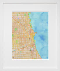 Stamen Maps Stamen Design U0027s Watercolor Chicago 20x200