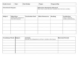 infant blank lesson plan sheets provider sample word 2010 template