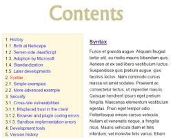 Contents Table Of Contents Generator Jquery Plugins