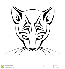 tribal cat head stock photography image 28389992 cat face