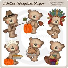 button bears thanksgiving clip 1 00 dollar graphics