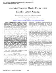 improving operating theatre design using facilities layout