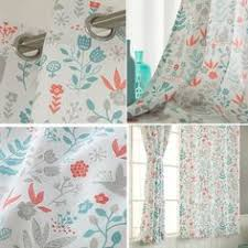 Colorful Patterned Curtains Pair Of Grommet Top Curtains In Ecru Taupe Snowy By Zeldabelle