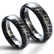 snubni prsteny wolframové snubní prsteny pán prstenů pár nwf1031 šperky4u eu
