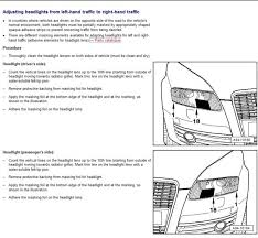 When To Use Parking Lights Xenon Headlight Adjustment For Europe Page 1 Audi Vw Seat