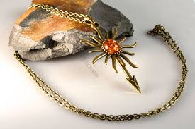 amber stone necklace images Sun spear amber necklace bijoux malou jpg