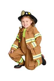 Fireman Costume Childrens Kids Firefighter Turnout Gear