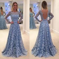 a line lace prom dress 2017 prom dresses long sleeve sleeve open