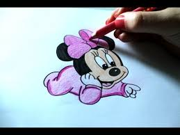 how to draw baby minnie mouse disney youtube