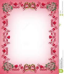 Design For Valentines Card Valentines Day Hearts Border Design Stock Photo Image 4125550