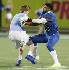 Pro Bowl Orlando by Cowboys U0027 Ezekiel Elliott Tackles Races Fan During Pro Bowl San