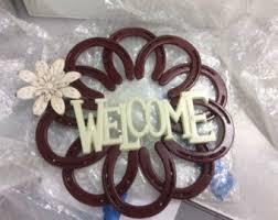 horseshoe wreath horseshoe wreath etsy