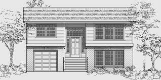 bi level house plans with attached garage split level house plans small house plans