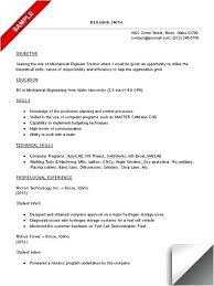 Production Engineer Resume Pdf Sample Technical Resume Mechanical Engineer Resume Example Sample