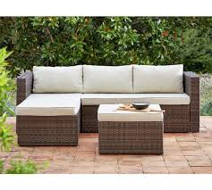 New Years Eve Party Decorations Argos by Buy Home 3 Seater Rattan Effect Mini Corner Sofa At Argos Co Uk
