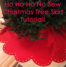merry craftmas how to make a no sew tree skirt