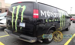 monster energy drink van wraps equals fierce advertising