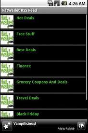 amazon black friday fatwallet fat wallet rss reader apk download fat wallet rss reader 1 0 7