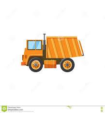 orange dump truck icon cartoon style stock vector image 81453941
