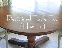 how to refinish a wood table how to restain a wood table top centsational style
