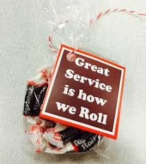 toostie roll gift tag customer service week customer service and etsy
