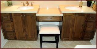 antique home furniture bathroom vanity with frosted glass