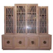 cerused walnut buffet with paned glass doors for sale at 1stdibs