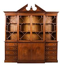 antique breakfront bookcase in mahogany antique bookcase in