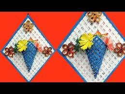 Vase Wall Decor Newspaper Flower Vase Diy Newspaper Crafts Best Out Of Waste