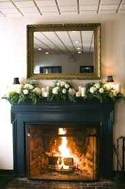 hanging garland fireplace mantel christmas uk with lights red